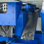 Blå maskine med metal fra ip maskiner