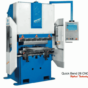 Blå og hvid maskine med styring ip maskiner