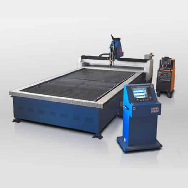 Maskine med løbende bånd i blå og sort fra ip maskiner
