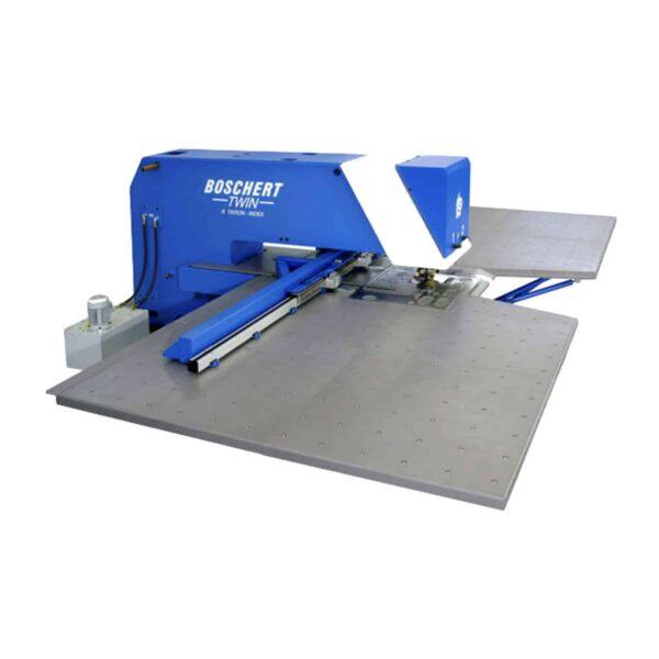 Blå og hvid maskine fra boschert ip maskiner