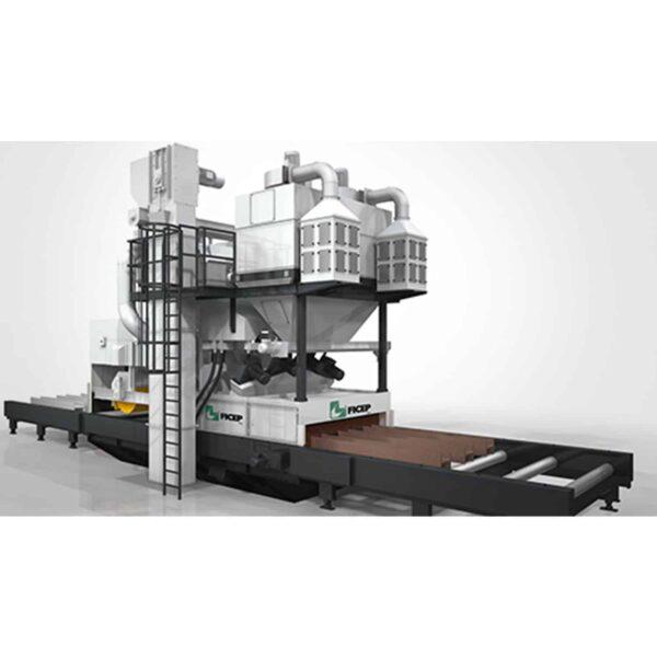 Tegning af hd-serie maskine fra ficep fra ip maskiner