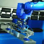 Blå motoman maskine fra ip maskiner