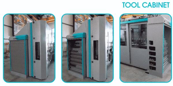 Grå maskine tool cabinet ip maskiner